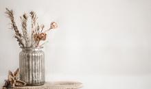 Still Life Beautiful Vase With...