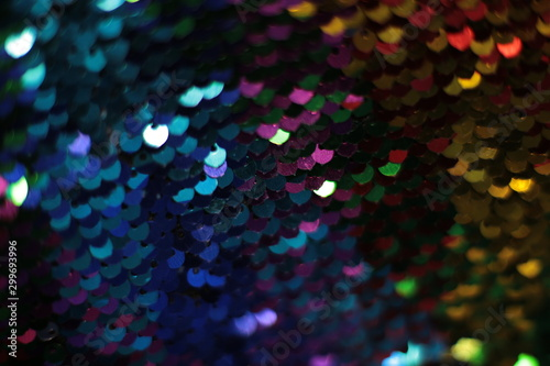 Sparkling holiday macro background of bright shiny sequins and lusters Wallpaper Mural