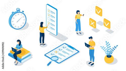Fotografía  Concept of online exam, online testing, questionnaire form, online education, survey, internet quiz