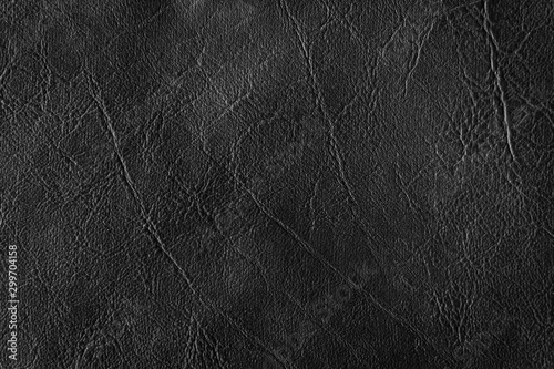 Black leather texture can be use as background