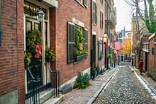 Acorn Street At Christmas Time...