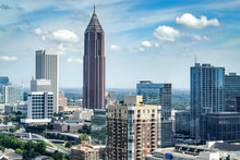 Aerial View Of Downtown Atlant...