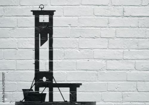 Street art. La guillotine Fototapet