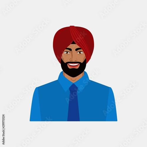 Cuadros en Lienzo Smiling Indian businessman in turban