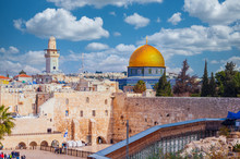 Western Wall Dominated By The Dome Of The Rock In Jerusalem