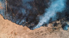 Forest And Field Fire. Dry Gra...