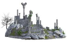 3D Rendered Ancient Castle Rui...
