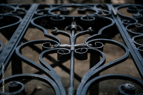 Fotomural metal gate,construction of metal gate,putting a patina on the metal gate