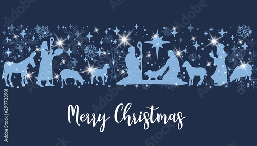 Fotografie, Obraz  Birth of Christ scene