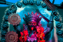 Hindu Goddess Kali Clay Sculpt...