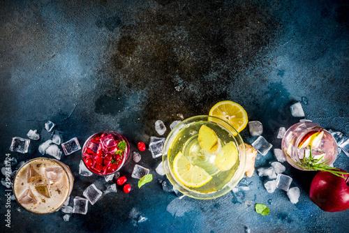 Stampa su Tela Variety fall winter cocktails