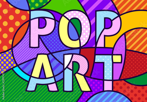 POP ART written in pop art modern comic style Canvas Print
