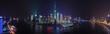 中華人民共和国・上海の夜景 パノラマ