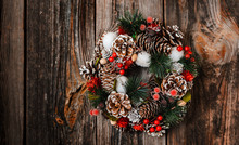 New Year's Wreath Of Spruce An...