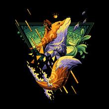 Space Fox Vector (Ai, EPS, JPEG)