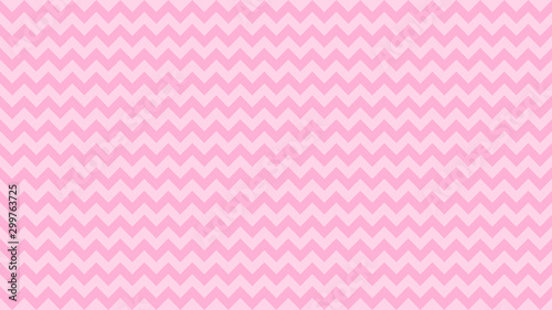 Valokuvatapetti serrated striped pink pastel color for background, art line shape zig zag pink s