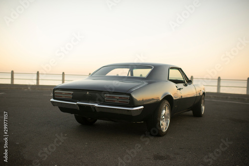 Muscle car 1967 ocean Wallpaper Mural
