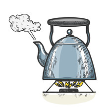 Boiling Kettle Teapot Engravin...