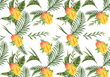 Floral Pattern With Mango