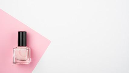 bottle of nail polish isolated on white background