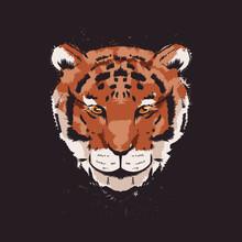 Tiger Animal Print T Shirt Vector Design Illustration