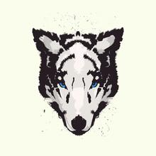 Wolf Animal Print T Shirt Vector Design Illustration