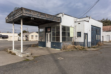 Vintage Abandoned Service Station Waiting For A New Occupant