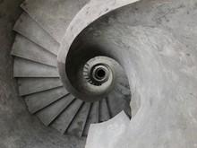 Round Concrete Staircase