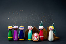 Christmas Nativity Scene Of Bo...