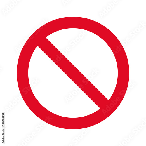 Fotografía  Vector illustration of prohibition sign isolated on white background