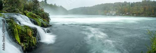 Canvas Prints Forest river Schaffhausen Rheinfall Herbst Oktober
