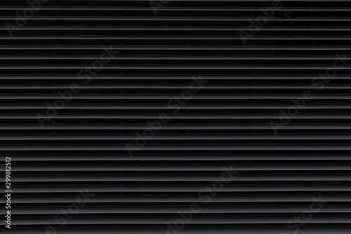 Dark corrugated metal surface for wall background. Canvas