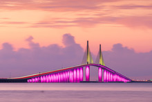 Sunshine Skyway Bridge Spanning The Lower Tampa Bay