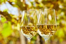 Two Glasses Full Of White Wine...