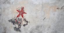 Communistic Symbol: Grungy Red...