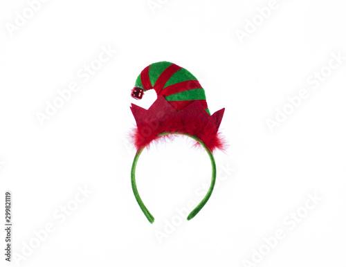 Valokuva Santa Claus headband on white background