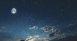 Leinwandbild Motiv full moon in the sky
