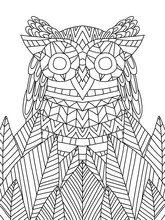 Sweet Owl Coloring Book Page F...
