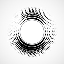 Abstract Dotted Circles, Halftone Dotted Background, Vector