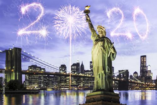Fototapeta New Year 2020 in New York obraz