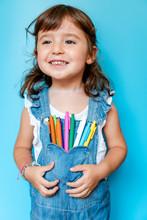 Portrait Of Cute Little Girl W...