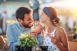 Leinwandbild Motiv Romantic couple