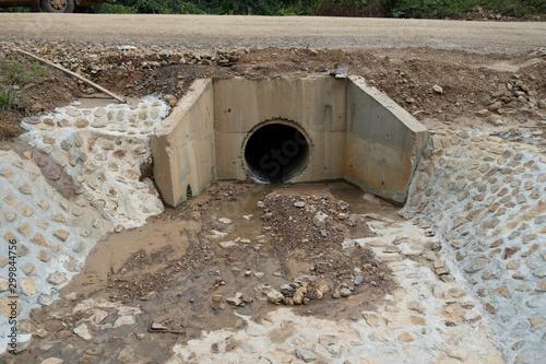 Fényképezés Round type culvert installation