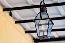 Closeup Of One Gas Lamp Lanter...