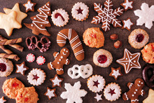 Variety Of Christmas Cookies A...