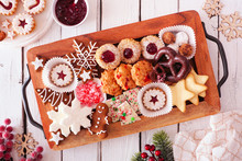 Tray Of Christmas Cookies. Top...