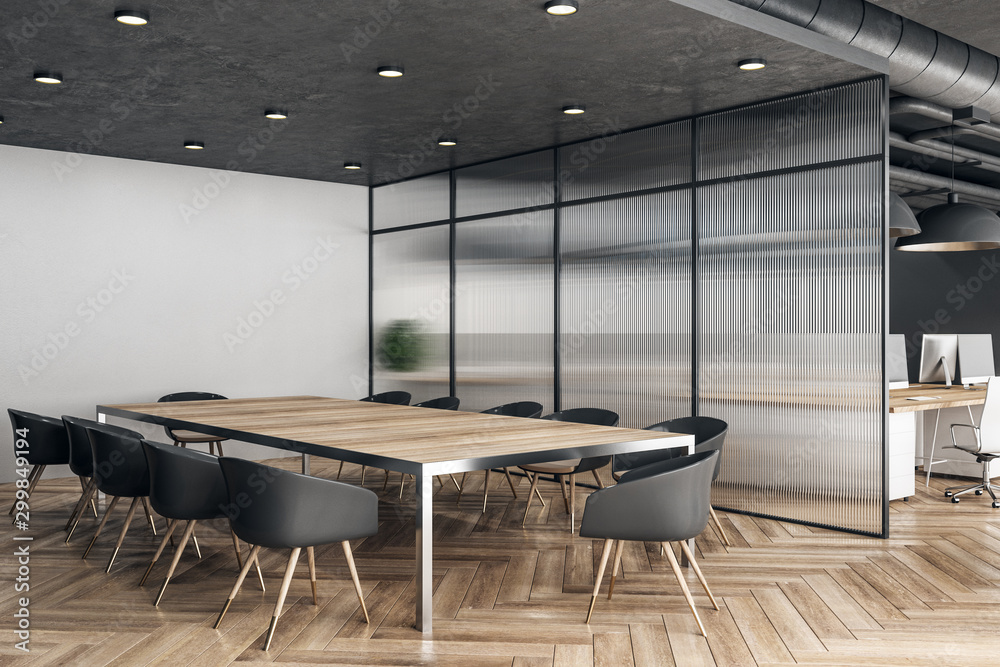 Fototapety, obrazy: Wooden meeting room interior