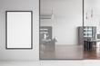 Leinwanddruck Bild - Modern office with poster