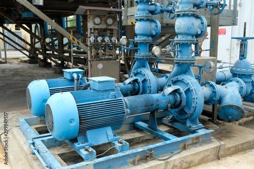 Fotografía Blue color centrifugal pump