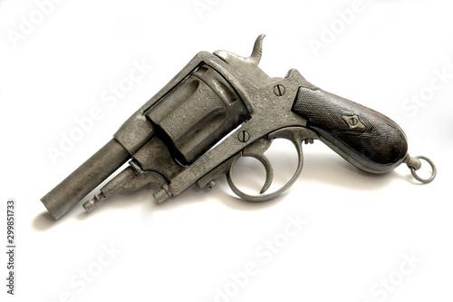 Photo  Old gun on the white background